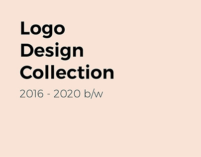 Logo Design Collection 2016 - 2020 b/w