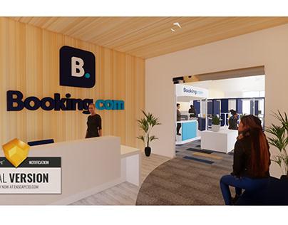 Diseño interior simulacro oficinas para Booking.com