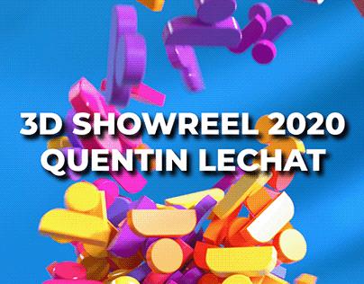 3D Showreel 2020 - Quentin Lechat