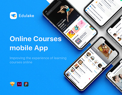 Edulake - Online Course mobile UI Kit