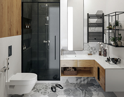 Bathroom visualization completed in 7.5 hours