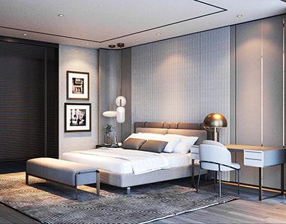 Modern Luxe Bedroom @ Villa Bukit Loyal