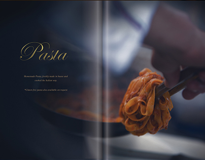 Menu design for italian restaurant in Japan