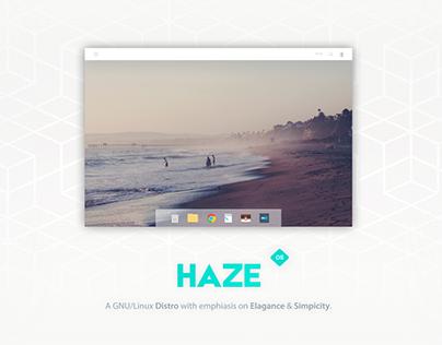 Haze: GNU/Linux distro Desktop shell concept
