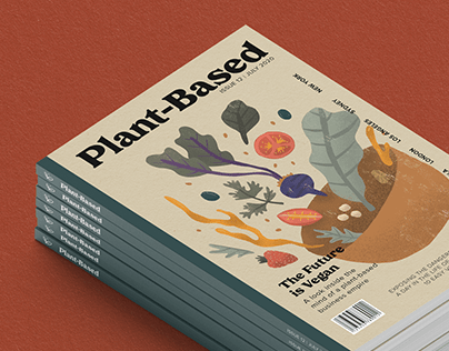Plant-Based Food Magazine Cover