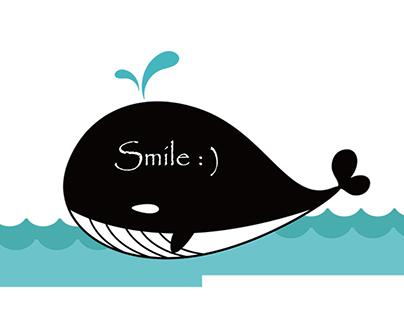 Chalkboard Wall Sticker - Whale