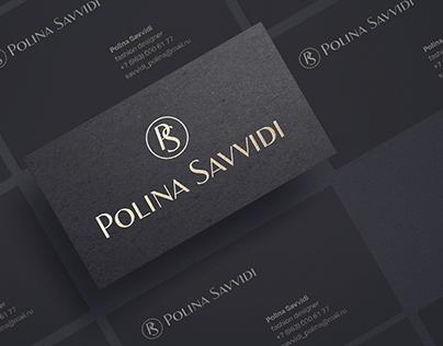 Polina Savvidi Logo for fashion designer