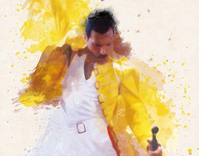 Queen (Freddie Mercury) - We Will Rock You poster