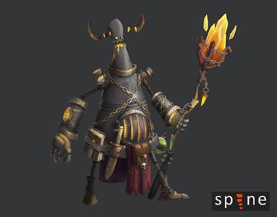 Metall Pyromancer animation