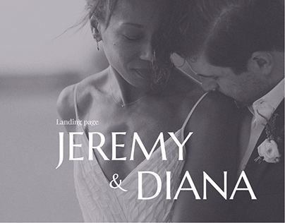 Wedding Invitation for a Couple - Landing Page