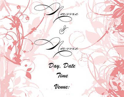 Wedding E card Template