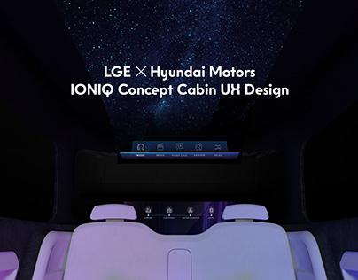 LGE, Hyundai motors Ioniq Concept Cabin UX design