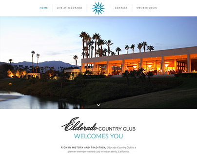 Eldorado Country Club Homepage Redesign Concept