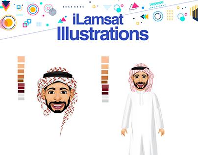 Vector Character design - iLamsat.Com