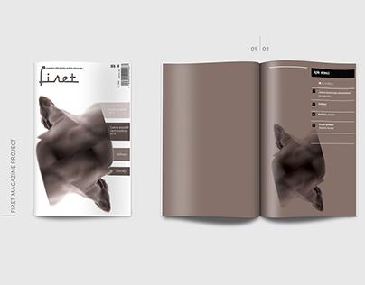 Firet Magazine -layout project