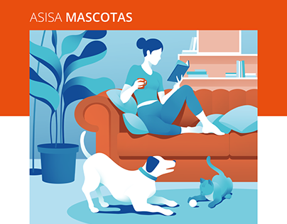 ASISA Mascotas - Brochure illustrations