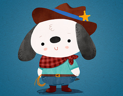 Ted - The Dog - Character Design Project