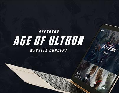 Avengers Website Concept