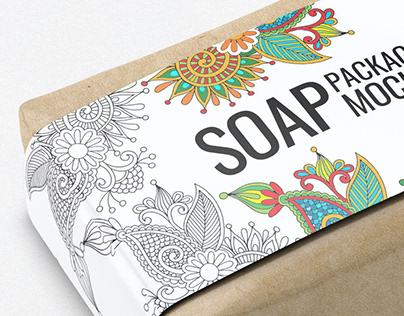 Soap Bar Paper Sleeve Packaging Mock-Up