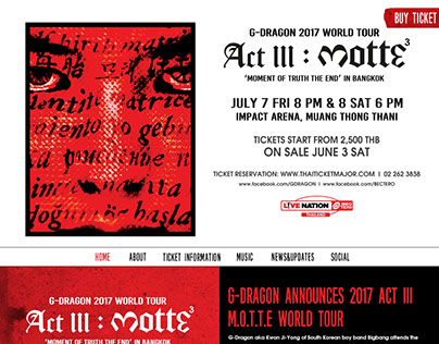 G-DRAGON 2017 WORLD TOUR ACT III, M.O.T.T.E,