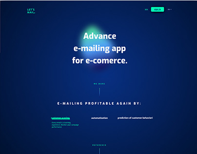 Let's Mail Landing Page