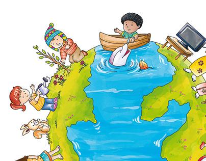 Ilustración infantil educacional