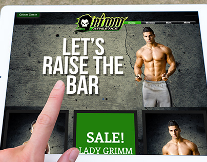 Local Gym Membership Site & Clothing Store - Web Design