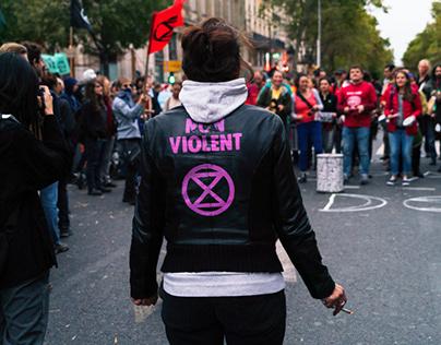 Extinction Rebellion Paris Occupation Oct 7 2019