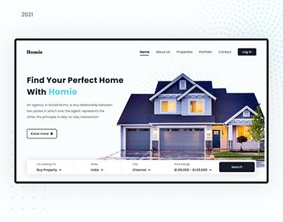 Homie ( Webiste Design )