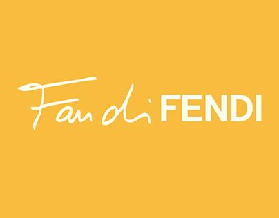 Packaging Fan di Fendi