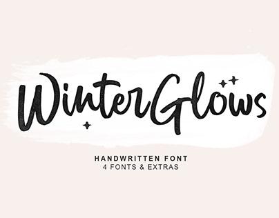 Winter Glows Brush Font