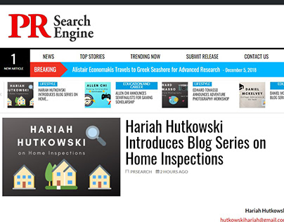 Home Inspections Blog Series (press release)