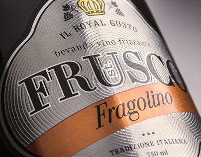 Packaging of sparkling wine st.FRUSCO