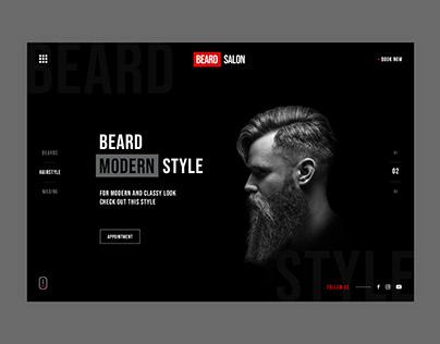 Barbershop Website Landing Page