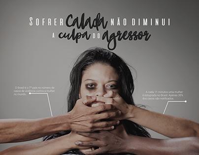 Campanha - Violência contra a Mulher.