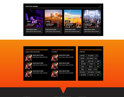 BEATIT: The Music Portal Template Design