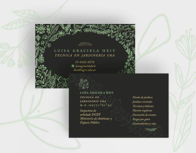 Personal Card | Gardener