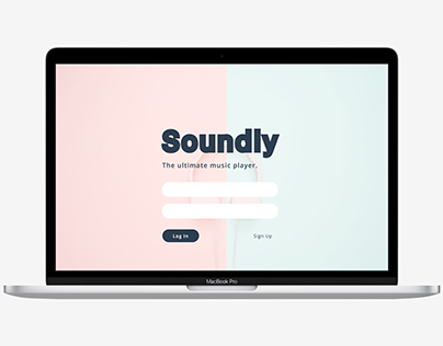 Soundly Music Web App Mockups