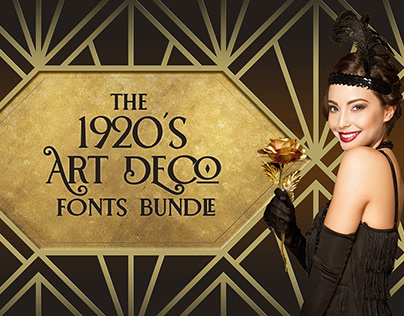 The 1920's Art Deco Fonts Bundle