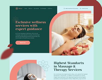 Landing page redesign for Massage & Wellness studio