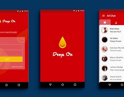 DROP ON _ Chatting App