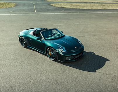 Green on Green - Porsche 991 Speedster