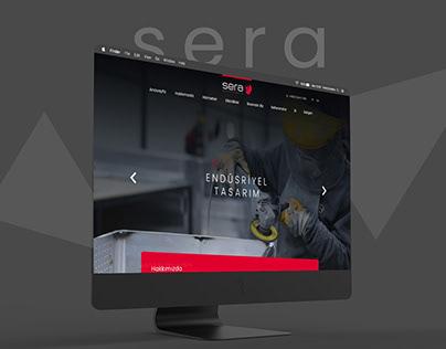 Sera Endüstriyel Tasarım Web Arayüz Tasarımı