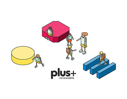 Plus Renewable / Website Illustration