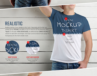 ligia zuniga on behance9 mockup of a white t shirt on a man on a wooden backgr
