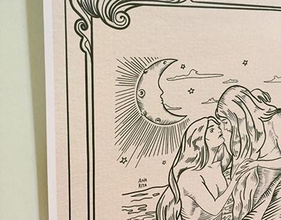 Sapphic Mermaids by Ana Rita | inspired by HR Millar