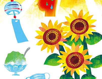 Illustration production for catalog magazine