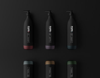 PurePressedEssentials | Hair Product Packaging Design