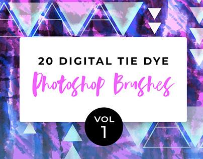18 Digital Tie-Dye Brushes Vol. 1