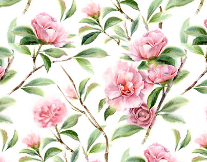 Watercolor floral patterns 2018